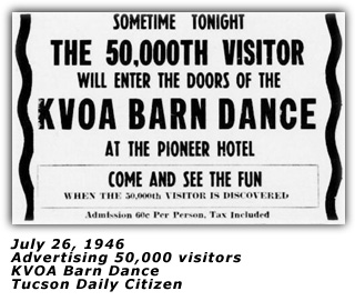KVOA Barn Dance - 50,000 Visitors 1946