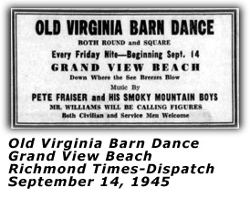 Old Virginia Barn Dance Sep 1945