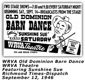 WRVA Theater ODBD Ad Sep 12 1946