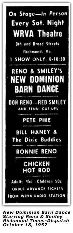 New Dominion Barn Dance - Oct 18 1957