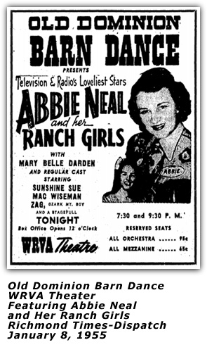 Abbie Neal and Her Ranch Girls - Jan 8 1955