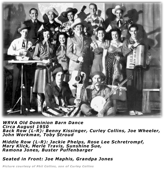 Old Dominion Barn Dance Cast Circa August 1950
