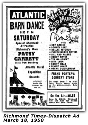 Atlantic Barn Dance Ad - Red Murphy - Mar 18 1950