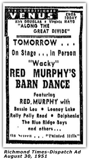 Atlantic Barn Dance Ad - August 30, 1951