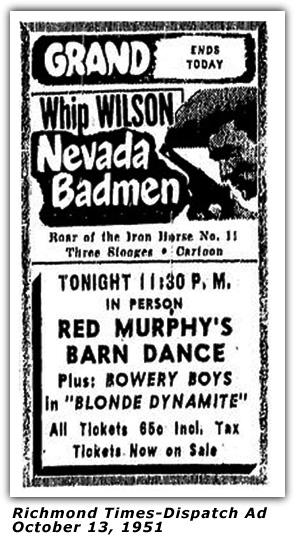 Atlantic Barn Dance Ad - October 13, 1951