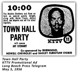 Town Hall Party - KTTV Ad - 1956