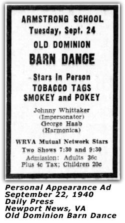 Personal Appearance Ad - Sep 22 1940