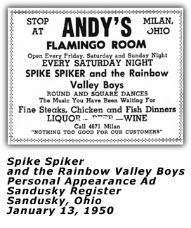 Spike Spiker and the Rainbow Valley Boys - 1950