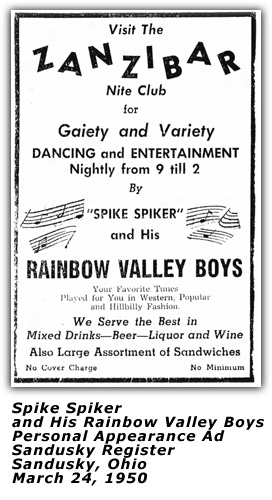 Spike Spiker and his Rainbow Valley Boys - 1950