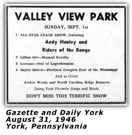 Saylor Sisters - Valley View Park 1946