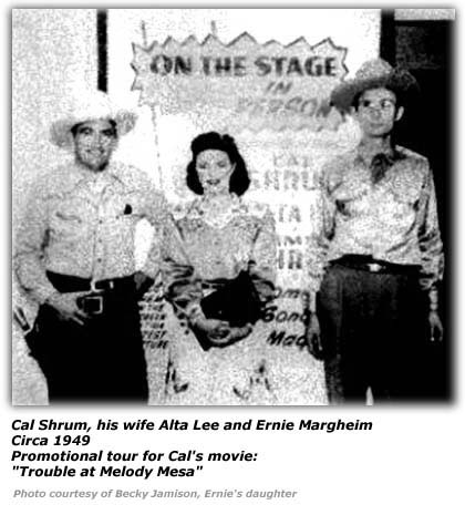 Cal Shrum, Alta Lee and Ernie Margheim - Circa 1949