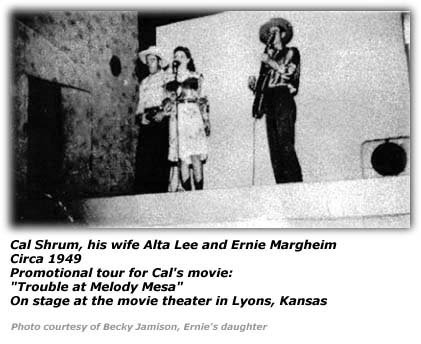 Cal Shrum, Alta Lee and Ernie Margheim - Circa 1949 - Movie Theater in Lyons, KS