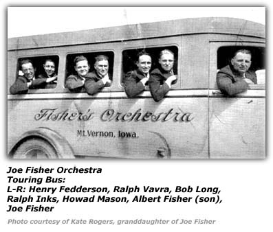 Joe Fisher Orchestra Touring Bus