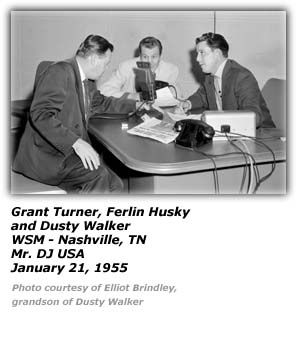Dusty Walker, Grant Turner and Ferlin Husky