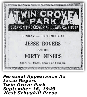 Jesse Rogers - Twin Grove Park - 1949