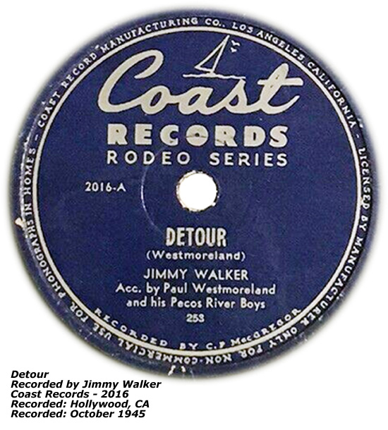 Coast Records 2016 Detour Jimmy Walker Oct 1945