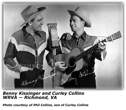 Benny Kissinger and Curley Collins at WRVA