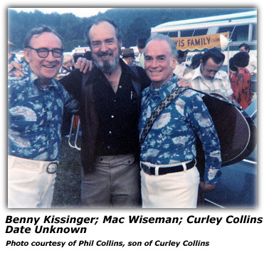 Benny Kissinger, Mac Wiseman and Curley Collins