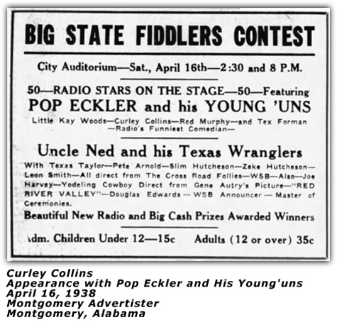 Pop Eckler and his Young'uns - April 1938