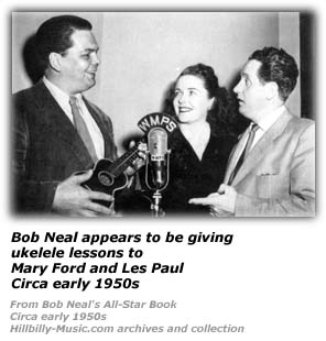 Bob Neal, Mary Ford and Les Paul