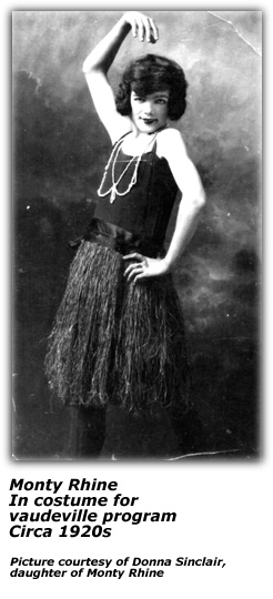 Monty Rhine as young vaudeville actor