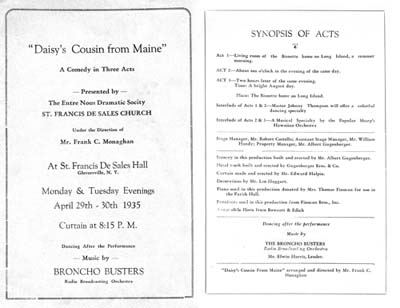 Broncho Busters Show Date - 1935