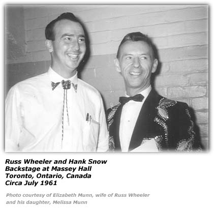 Russ Wheeler and Hank Snow - 1961