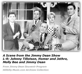 Johnny Tillotson, Homer and Jethro, Molly Bee and Jimmy Dean