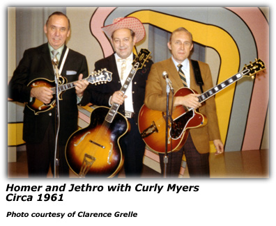 Homer and Jethro with Curley Myers - 1961