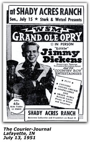 Shady Acres Ranch Promo - Little Jimmy Dickens - July 1951