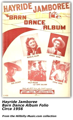 Hayride Jamboree Song Folio - 1956