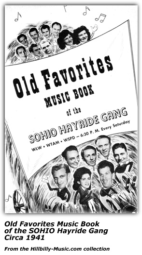 Old Favorites Music Book of the SOHIO Hayride Gang - 1941