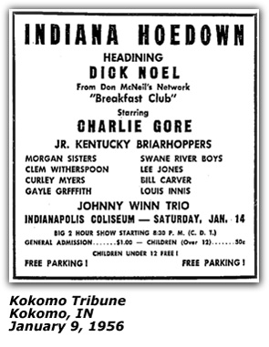 Indiana Hoedown Promo - January 1956