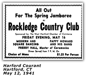 Pappy Howard Rockledge Country Club Ad 1941