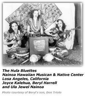 Beryl Harrell with Hula Bluettes