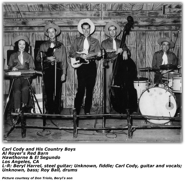 Beryl Harrell with Carl Cody and his Saddle Dusters