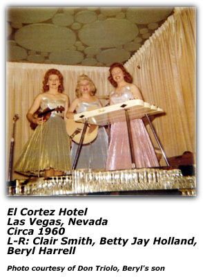 Beryl Harrell, Clair Smith and Betty Jay Holland - El Cortez Hotel 1960
