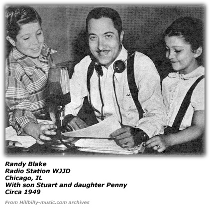 Randy Blake at WJJD in 1949