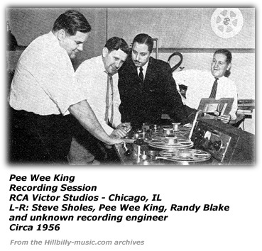 Randy Blake at Pee Wee King recording session