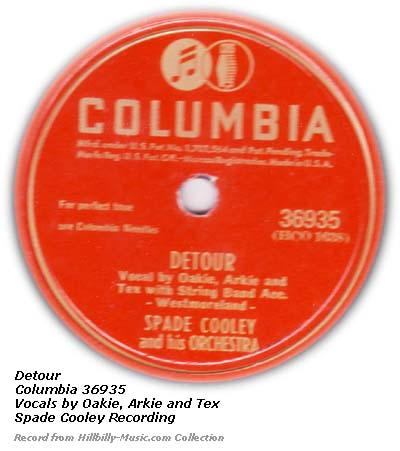 Detour - Columbia 78 Label
