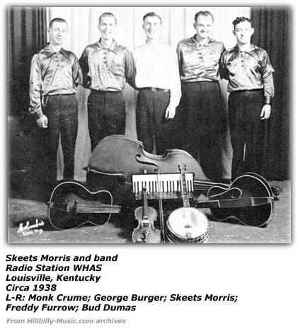 Skeets Morris and Band at WHAS Circa 1938