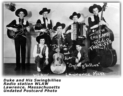 Duke and his Swingbillies Postcard WLAW