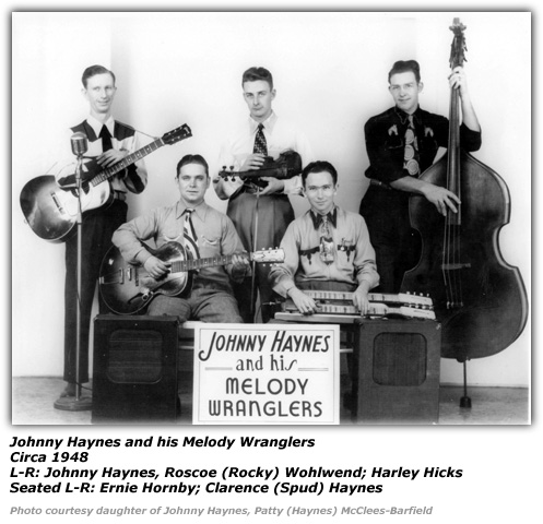 Johnny Haynes and his Melody Wranglers 1948