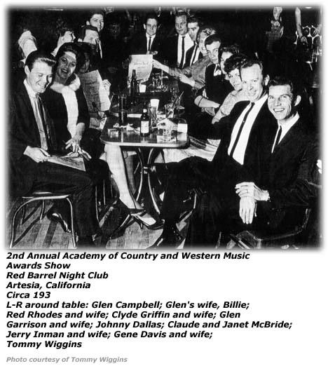 Academy of Country and Western Music Awards Show - 1963 - Red Barrel Nightclub