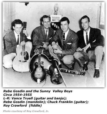 Roy Crawford with Rebe Gosin and his Sunny Valley Boys