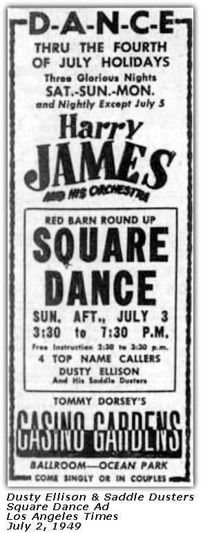 Saddle Dusters - Square Dance Ad