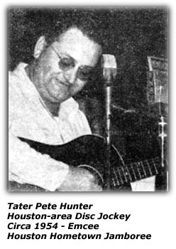 Tater Pete Hunter - Houston Hometown Jamboree - 1954