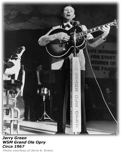 Jerry Green - Grand Ole Opry 1967