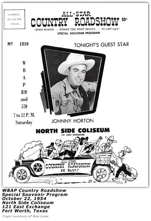 WBAP 1954 Country Roadshow Flyer