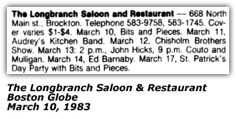 Chisholm Brothers Promo - Longbranch Saloon and Restaurant - Brockton, MA - 1983